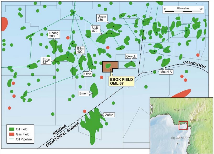 OERL Offshore - Ebok Field Map